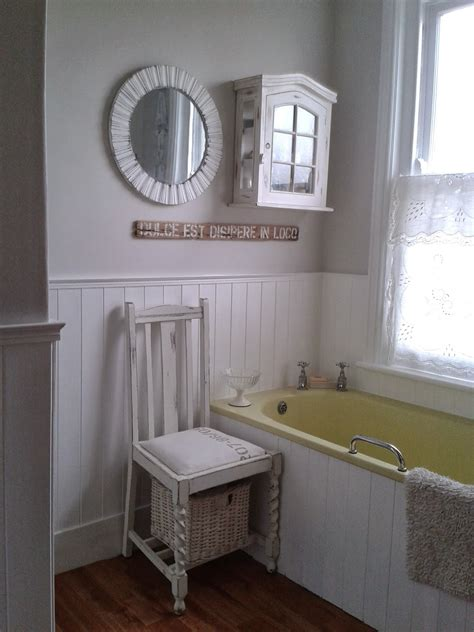 tongue and groove bathroom walls just paint it white