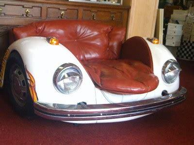 vw bug couch volkswagen beetle car chair vintage art furniture ebay