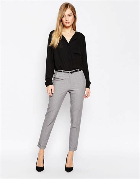 Asos Tailored Slim Trouser asos asos the slim tailored cigarette trousers with belt