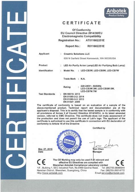 ce certificate of conformity template certificate of compliance template template business