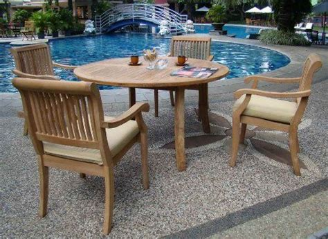 grade a teak patio furniture new 5 pc luxurious grade a teak dining set 52 quot table and 4 stacking arm chairs model