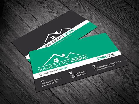 15 free real estate business card templates designazure com