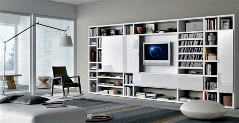 Contemporary Living Room Built Ins 18 Modern Style Living Rooms From Misuraemme