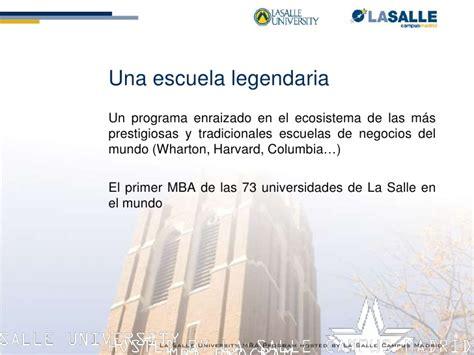 La Salle Philadelphia Mba by Presentacion Mba Philadelphia La Salle Madrid