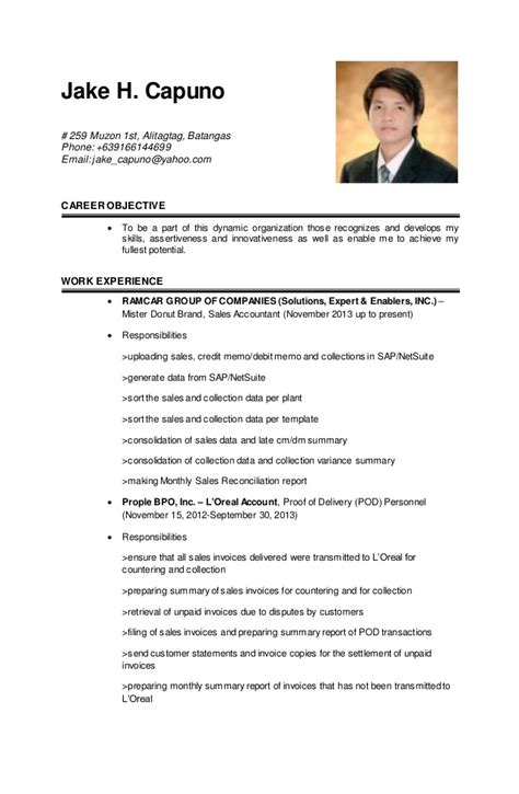 Updated Resume Format by Jake Updated Resume