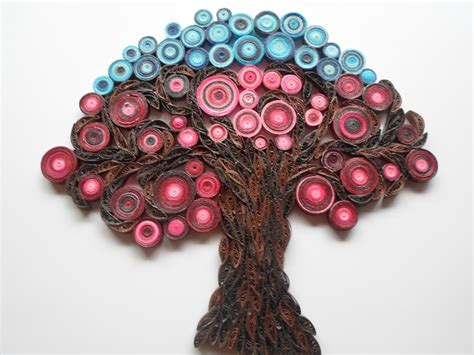 quilling home decor wall decoration tree of life wall hanging modern red home