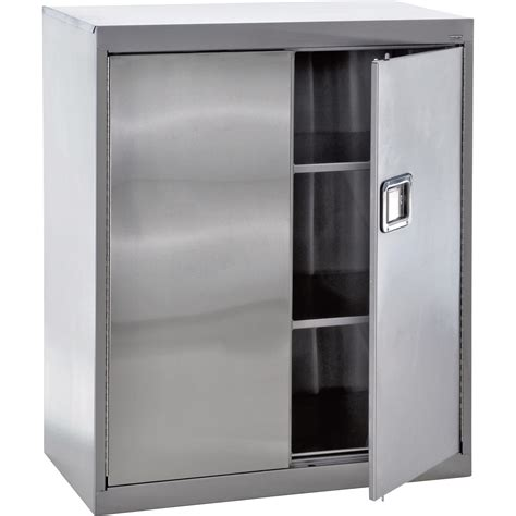 Steel Storage Cabinets Sandusky Buddy Stainless Steel Storage Cabinet 36in W X 18in D X 42in H Model Sa2d361842 Xx