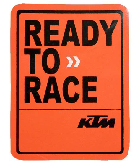 Ktm Ready To Race Bliss Junkies Multicolour Ready To Race Ktm Decal Sticker