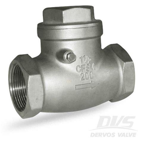 1 inch swing check valve swing check valve 1 5 inch 200wog npt cf8m dervos