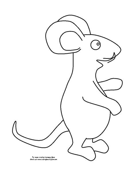 mouse template mouse outline coloring pages