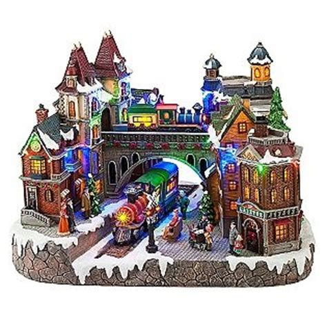 light up table top village animated light up christmas