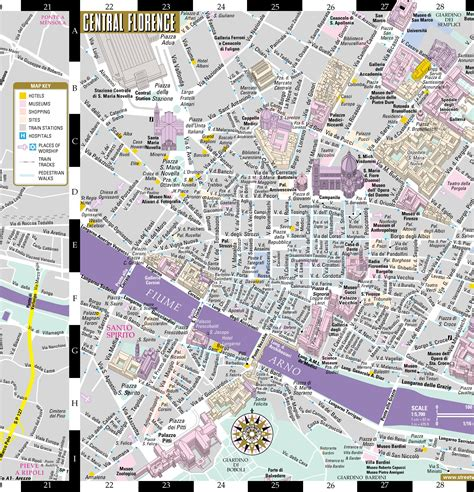 florence pocket map and 0241204577 popular 232 list florence italy map