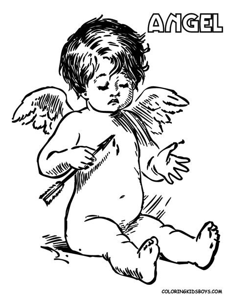 boy angel coloring page angel coloring sheet