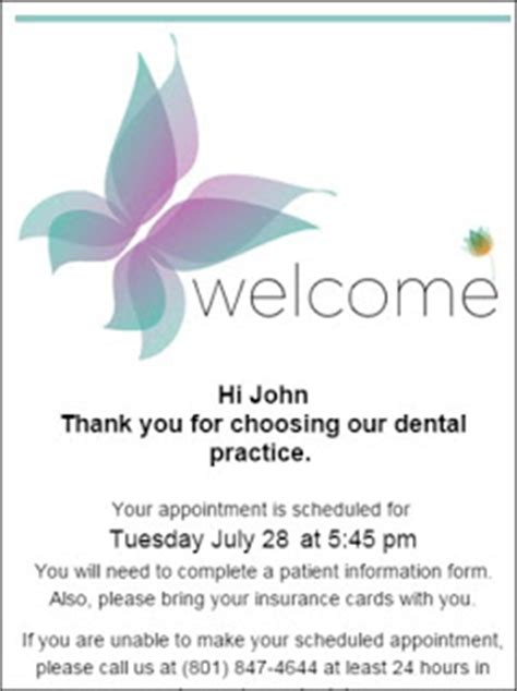 Thank You Note For Dental The Dentrix Office Manager Thank You For Scheduling With Our Office