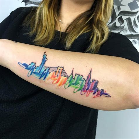 tattoo nyc 24 hours 25 cityscape tattoos of the world s most beautiful