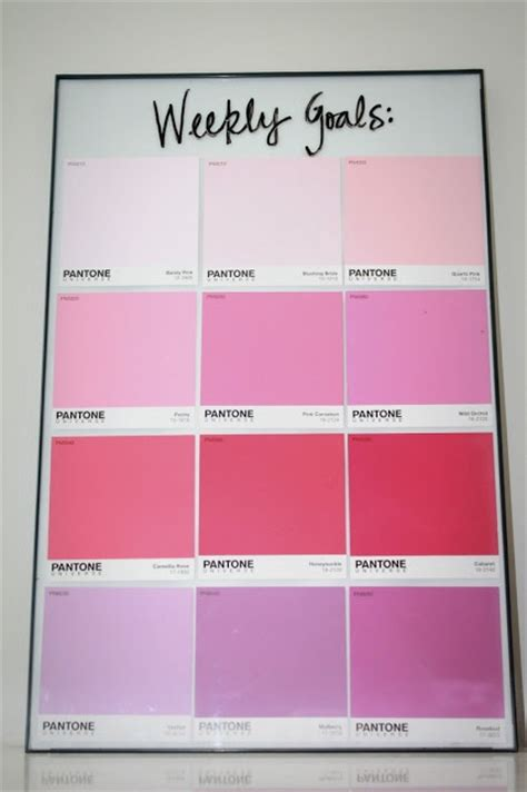 pantone chips from lowes and a cheap walmart frame erase board craft ideas