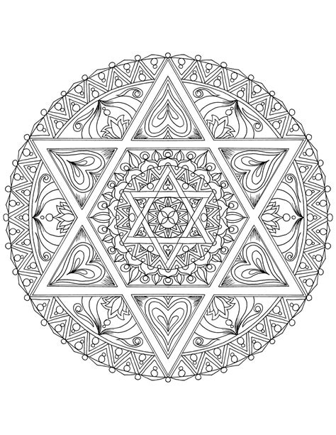 hanukkah mandala coloring pages the coloring book of jewish symbols book by m g