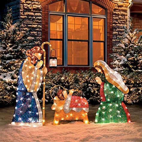 Light Up Nativity Sets For Outdoors Outdoor Nativity Sets Absolute