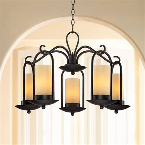 faux candle light fixtures onyx faux stone candle 30 quot wide indoor outdoor chandelier