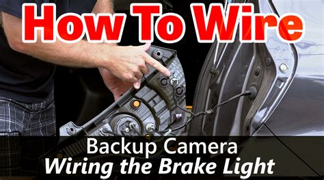 back up wiring how to wire to the brake light