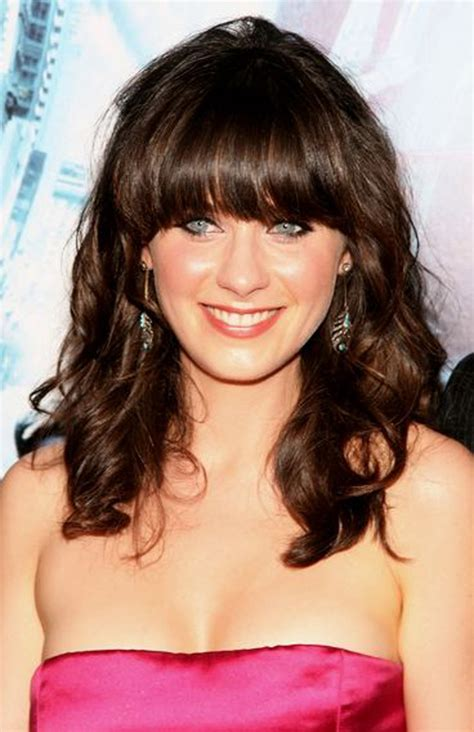 images medium length curly hair with fringe 30 cute styles featuring curly hair with bangs fave