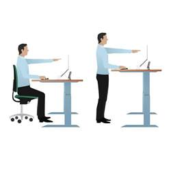 Sit Standing Desk Deskrite 500 Sit Stand Right Corner Desk From Posturite