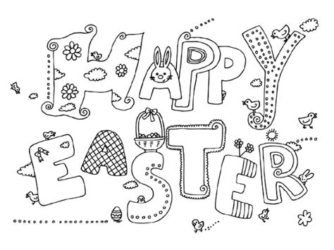 doodle god uovo happy easter coloring page country times
