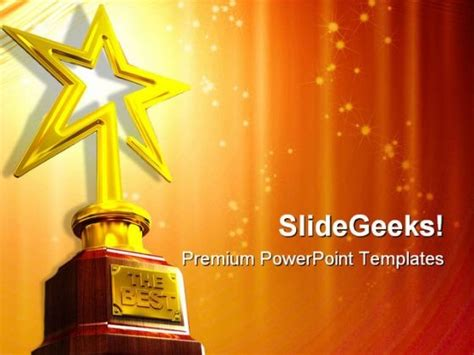 awards presentation template award entertainment powerpoint templates and