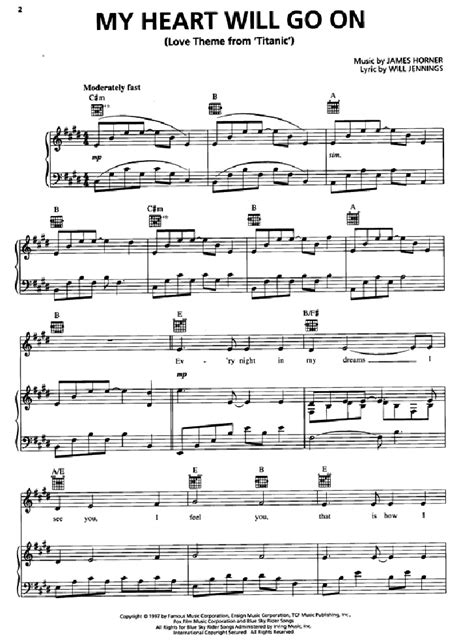 Partituras De Piano Gratis | titanic para piano partituras