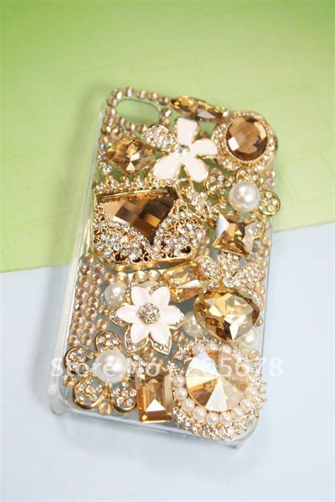 Handmade Phone Cover - free shipping wholesale handmade charms phone for t