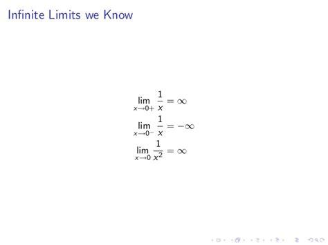 lesson 4 limits involving infinity