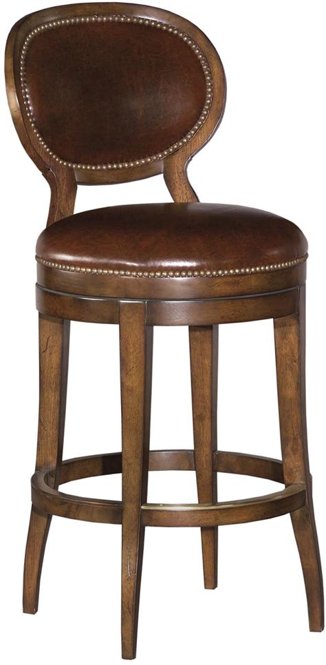 Leather Swivel Bar Stools With Backs by New Swivel Counter Stool Oval Back Brown Leather Brown