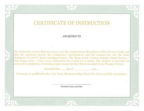 nra certificate template hilltop gun club