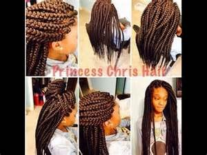 natural hair: box braid, poetic justice braid, back length