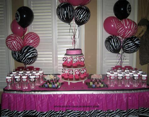 Zebra Print Decorations by Tales Birthday Zebra Print And Pink Spa