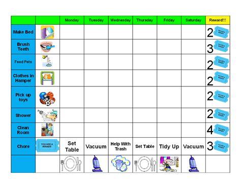 printable charts for toddlers antjie die rooibruin hen kids good behaviour chore chart