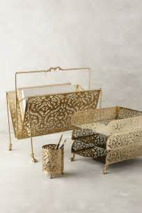 desk accessory a touch of glamor at the workplace gold desk accessories