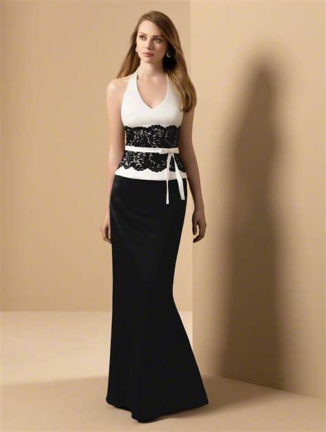 White And Black Dress black and white bridesmaid dresses