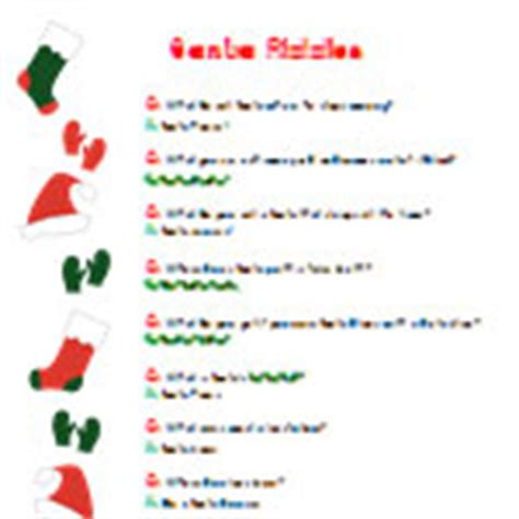 santa riddles advent calendar 2013 archives tree farm