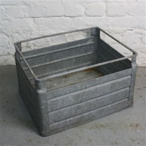 metal crate vintage industrial metal milk crate from germany lovely and company