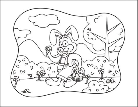 coloring pages easter pdf coloring activity pages easter bunny waving holding