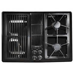 Jenn Air Gas Cooktops Shop Jenn Air 174 30 Inch Gas Downdraft Cooktop Color Black
