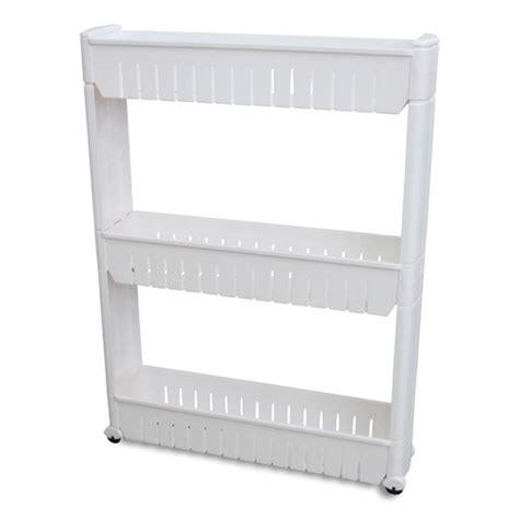 Narrow Sliding Storage Organizer Rack by Vandue Corporation Narrow Sliding Storage Organizer Rack