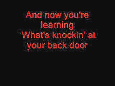 Back At Your Door Lyrics by Knockin At Your Back Door Purple With Lyrics
