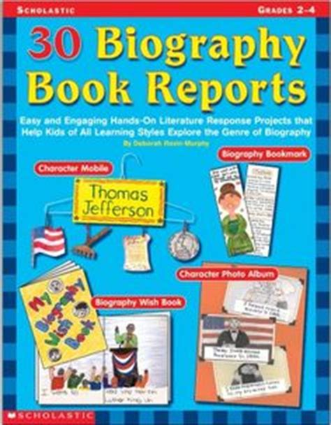 biography book report ideas home school book report ideas on book report