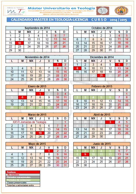 calendario universitario 2014 m 193 ster universitario en teolog 205 a calendario y horarios