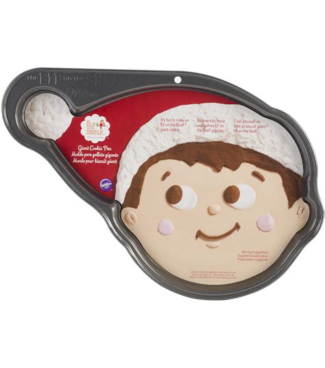 elf on the shelf cookie pan cookie pan elf on the shelf face shaped