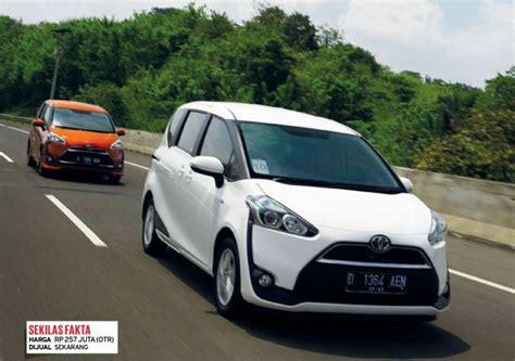 Keluarga Irit 6 by Harga Mobil Keluarga Murah Dan Irit Toyota All New Sienta