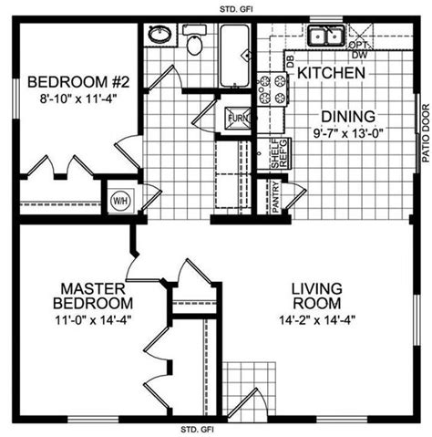 30 x 30 sq ft home design guest house 30 x 25 house plans the tundra 920 square