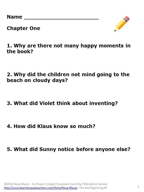 the answer to chaos in the pr industry bad beginning book 1 literacy unit comprehension
